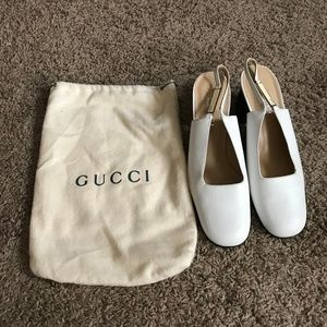 GUCCI Slingback Pumps Sz 9B and Calvin Klein Glass